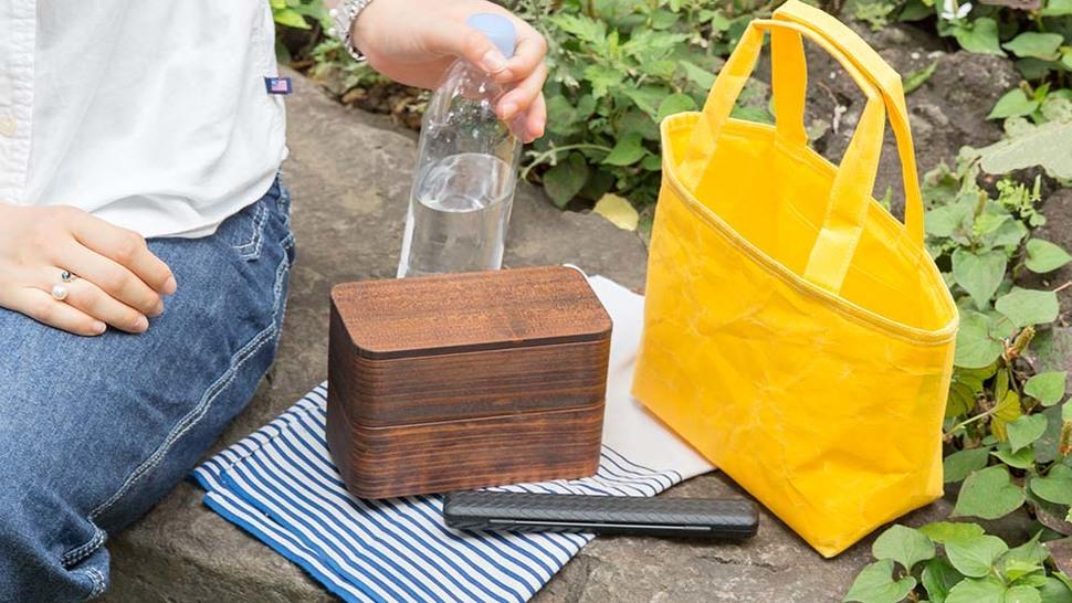 和紙素材のランチバッグ
