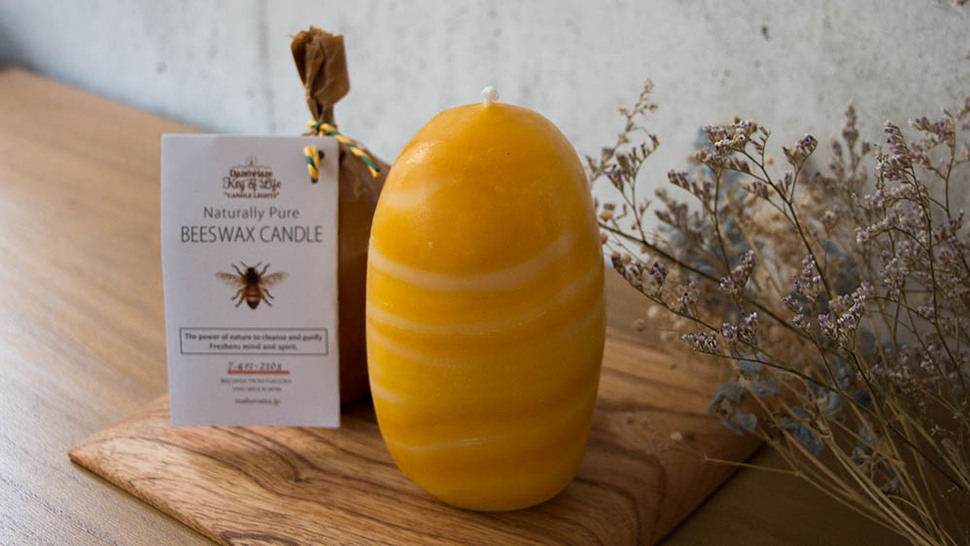 BEESWAX CANDLE (L)置き