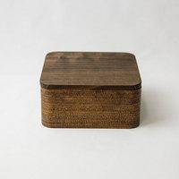 杉の木クラフト うるしの弁当箱(正方形)