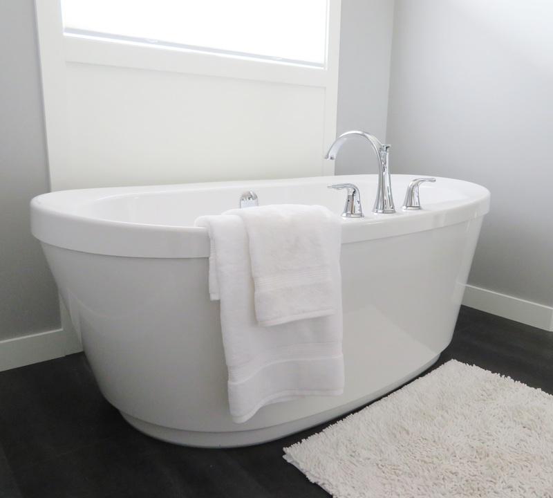 お風呂場とタオル