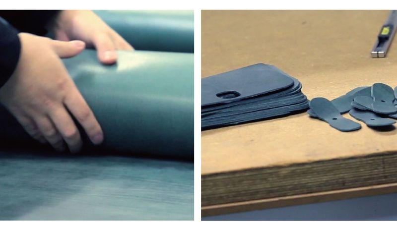 機能性財布製造シーン