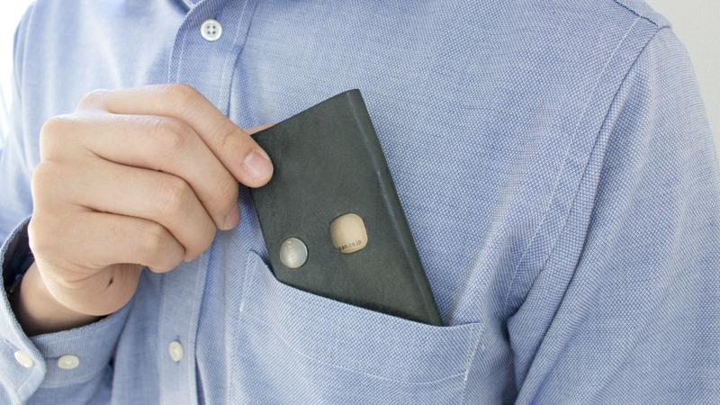 機能性財布胸ポケット
