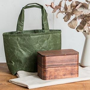 木の素材感を楽しむお弁当箱セット