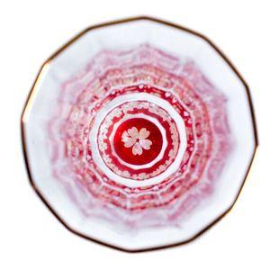 金杯(万華鏡)桜 / 螺鈿硝子 杯