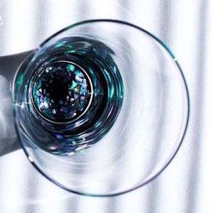 杯(クリスタル)石垣 / 螺鈿硝子 杯